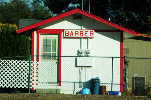 As the town grows, the need for barbers has followed, and so we now have at least three of these.