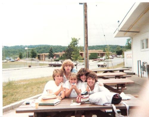 Manlius, New York 1986.  I'm the one holding the squirt gun.  Jenny's the one on the far right.